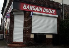 Bargin Booze Roller shutter door and window