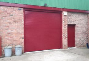 Industrial Red Roller Shutter Door