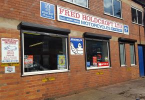 Roller shutter windows for Fred Holdcroft