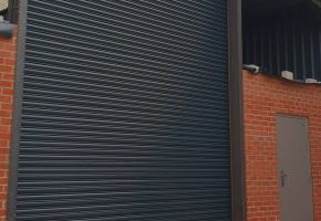 Roller shutter in Gray with steel security side door