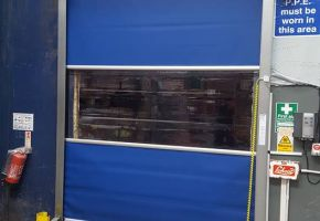 Fast action door installed on a freezer, Stafford